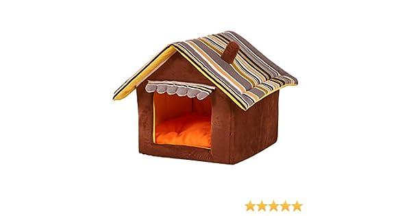 JEELINBORE Plegable Portátil Caseta Casa para Mascota Cama para Perro o Gato (Café, S: 35 * 30cm): Amazon.es: Productos para mascotas