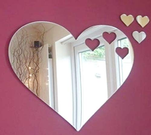 Hearts out of Hearts Mirror & Three Hearts 20cm x 18cm Super Cool Creations