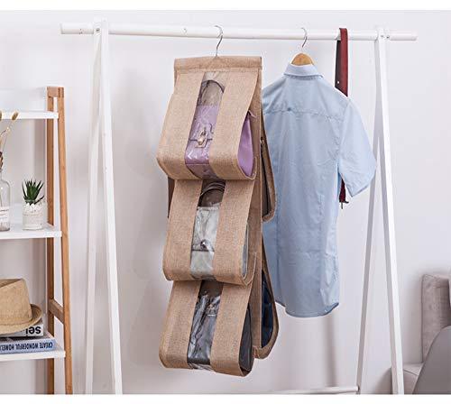 Facile Pour Main 5 Embrayages D'accès Transparentes Sacs Main À gray Sac Organisateur Etc Anti Beige Organiseur Aihouge De poussière Suspendre Poches naqASxZZp6
