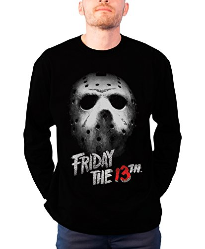 Friday The 13th Long Sleeve T Shirt Friday The 13th new Official Mens Black -