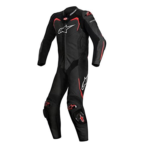 Alpinestars Gp Pro Leather Suit, 1 Piece (Black/Red,Size 54) ()