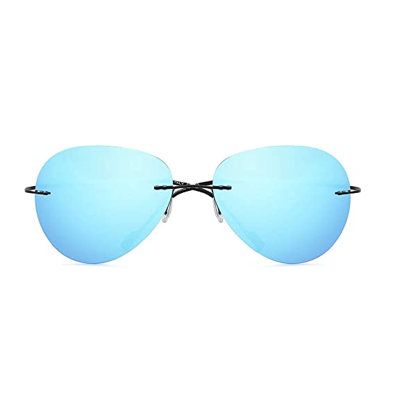 OQ CLUB Gafas de sol sin Marco Aviador Polarizadas de ...