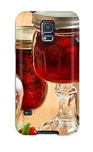 Discount New Strawberry Jam Tpu Case Cover, Anti-scratch Phone Case For Galaxy S5 2258782K50280930