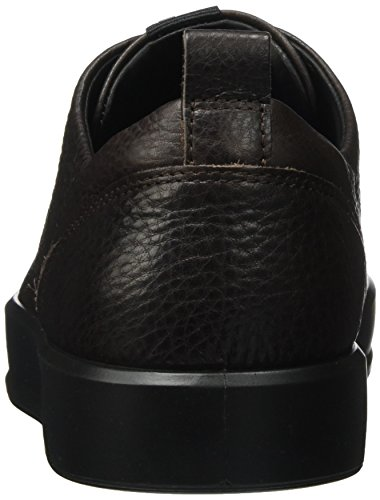 ECCO Mens Soft 8 Tie Fashion Sneaker Coffee/Black lyActPc