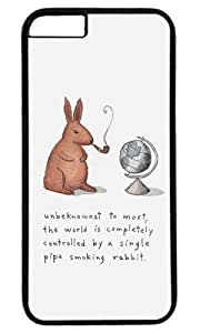 Funny World controlled by a pipe smoking rabbit Thanksgiving Halloween Masterpiece Limited Design PC Black Case for iPhone 6 Plus by Cases & Mousepads