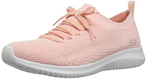 Skechers Sport Women's Ultra Flex Statements Sneaker,Light Pink,8 M US