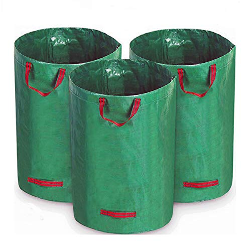FlowFly Garden Waste Bags Reusable and Collapsible Lawn Leaf Container 3 Pack 80 Gallons (3 x 80 ()