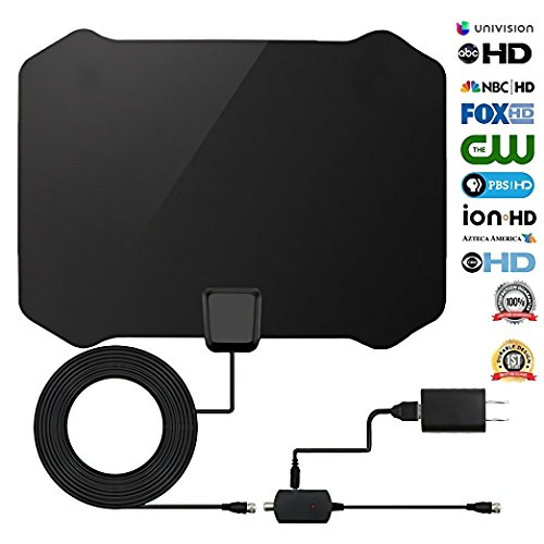 TV Antenna Kits HD Digital 50 Miles Long Range High-Definition with HDTV Amplifier Signal Booster Indoor - Amplified Coax Cable - Support All TVs - 1080p 4K