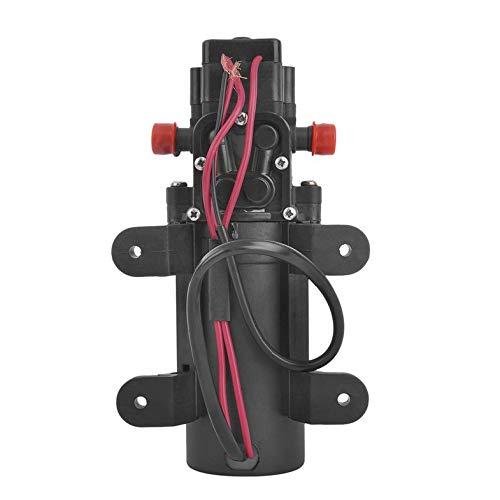 Cloverclover DC 12V Diaphragm Self Priming Pump 1.07 Gallons Per Minute Electric High Pressure Pump 80 PSI Boat Fresh Water Pump 2.6 Amp
