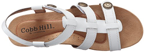 Hill Cobb Women's Harper Rockport White Sandal Wedge ch dxxU6