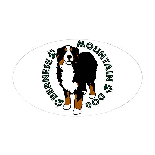 - CafePress Standing Bernese Mountain Dog Oval Bumper Sticker, Euro Oval Car Decal