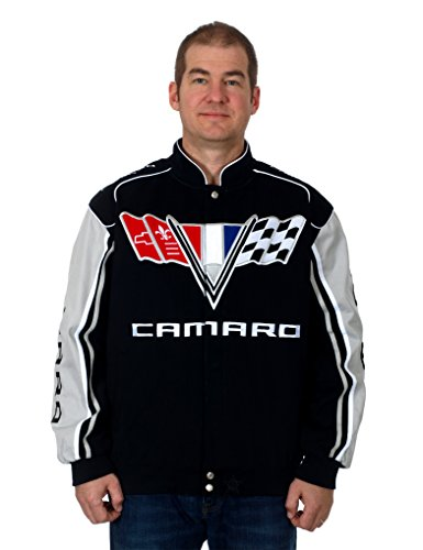 J.H. Design Chevy Camaro Racing Style Jacket (2X) (Chevy Team Racing)
