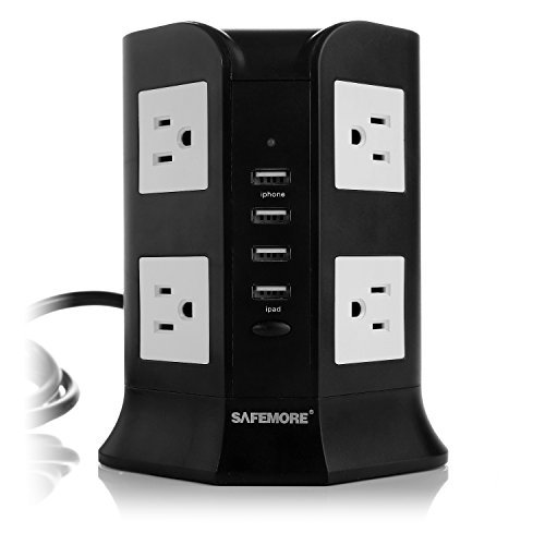 Safemore-Smart-8-Outlet-with-4-USB-Output-Power-Strip-Black-and-White