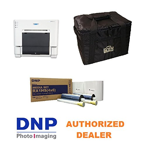 (DNP DS-RX1HS Photo Printer.. BUNDLE DEAL. Comes with our exclusive CARRYING CASE and 1 BOX OF 4X6