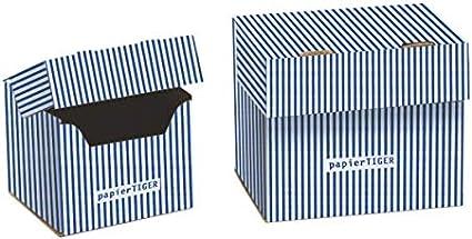 7 tigre de papel cajas de fichas A7 cartón diseño weißblau ...