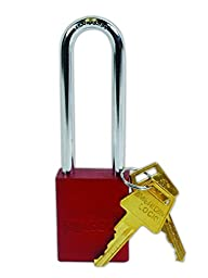 American Lock A1107RED Safety Lock-Out Padlock, Aluminum, Red