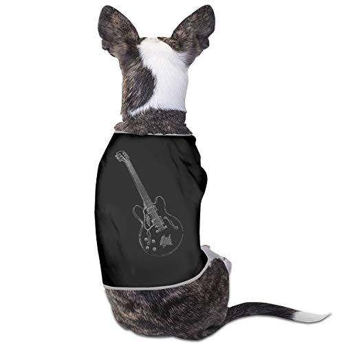 Jmirelife Puppy Dogs Shirts Costume Pets Clothing Guitar Music Small Dog Clothes Vest ()