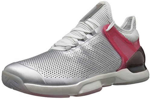 adidas Originals Men's Adizero Ubersonic 2 Ltd Tennis Shoe Matte Silver/Real Pink/White cheap sale cost cheap extremely clearance looking for outlet real jmjJRz7QX