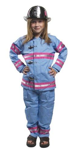 Jr Fireman Fire Fighter Costume 4/6 Blue Pink Girls FFP (Firefighter Costume Girl)