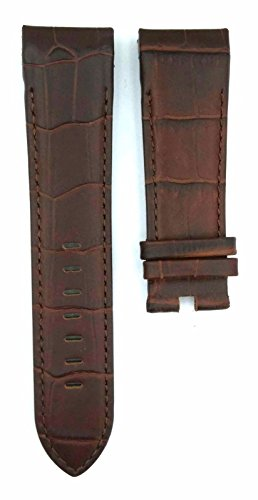 Compatible Corum Brown 24mm Leather Watch Strap 368CRM