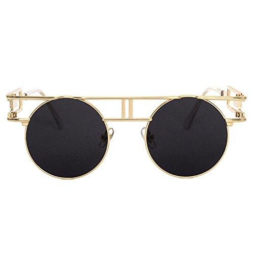 Hombre Gafas Gafas de Sol Punk de Dama Axiba Sol Brillante góticos Regalos Retros de Gafas B creativos Retro Reflectante t8nwqC