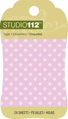 Pad & K Company Tag (K&Company Studio 112 Mini Tag Pad for Scrapbooking, Light Purple)