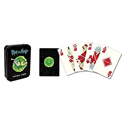 USAopoly Playing Cards: Rick & Morty in A Tin: Toys & Games