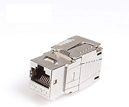 Connectors Network RJ45 CAT6A CAT8 Keystone Jack Module Socket Full Shielded TOOLLESS Type Support 10G//40G 550MHz//2000MHz PoE//PoE Cable Length: 10pcs per Pack, Color: Cat.6A 100W