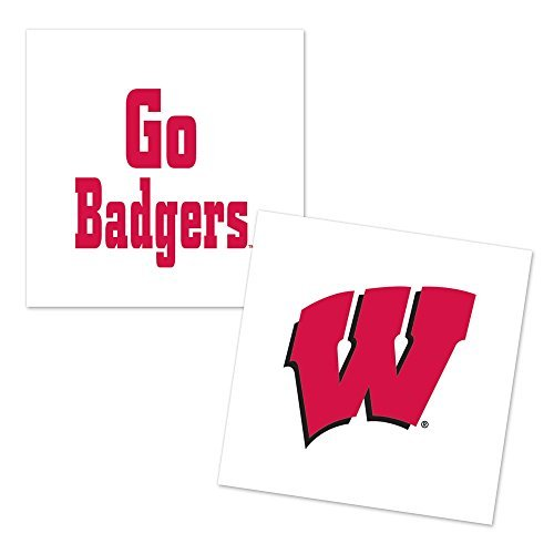 University Of Wisconsin Tattoo 4 pack