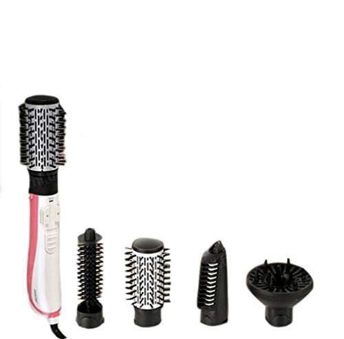(Can Not Use In USA )NIKAI Multi-Function Automatic Rotating Style Hair Dryer Blow Comb Hot Air Brush Round Brush For Blow Drying 2 Inch Europe Voltage