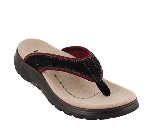 Taos Footwear Women's Aura Black/Bordeaux Sandal 6 M US