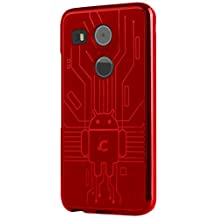 LG Nexus 5X Case, Cruzerlite Bugdroid Circuit Case Compatible for LG Nexus 5X - Red