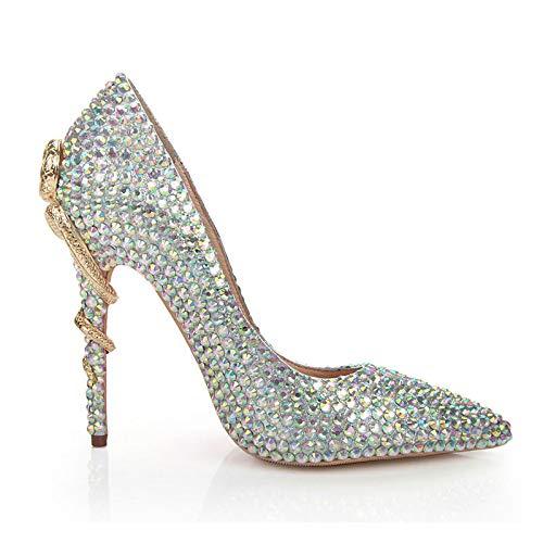 Pointus Talons Femmes à color Chaussures pour Multi à Pointus Bouts xTnxa6X