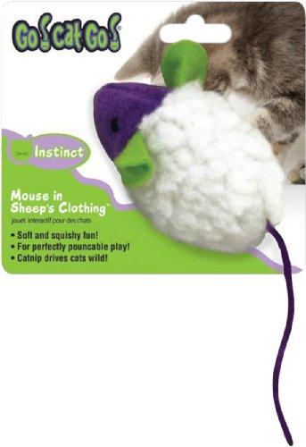 Mouse in Sheep's Clothing Cat Toy, My Pet Supplies