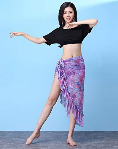 Set du et de Jupe Vtements Dance Ventre Belly YiiJee Femme danse Noir Tops AwZxaqW8g