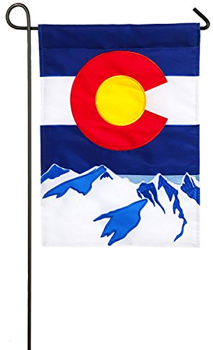 tate Applique Garden Flag, 12.5 x 18 inches (Colorado Rockies Garden)