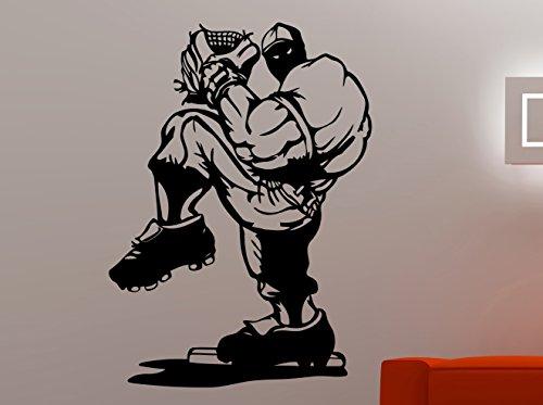 Baseball Player Vinyl Decal Sticker Sports Wall Art Home Interior Decorations Kids Boys Room MLB Decor 37bolb