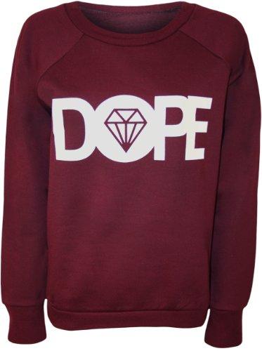 'DOPE' Pulls simple du Vin et le PaperMoon l'image Femme avec Pull Papermoon mot 40 42 diamant 1pYTP
