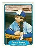 Danny Ainge baseball card (Toronto Blue Jays Boston Celtics Legend) 1982 Fleer #608