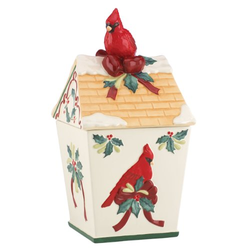 lenox Winter Greetings Birdhouse Cookie Jar (Birdhouse Cookie)