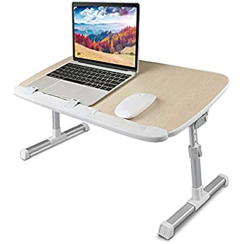 Adjustable Laptop Stand for Computer Riser Standing Desk, Portable Lap Desk for Bed & Sofa Tray, Foldable Laptop Table Stand for Dinner with 24 inch ...