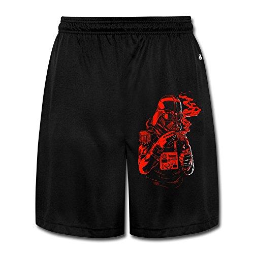 [M07H Men's Geek Star Mask Wars Darth Vader Smoke Short Running Pants Black Size M] (Darth Vader Mask Off)