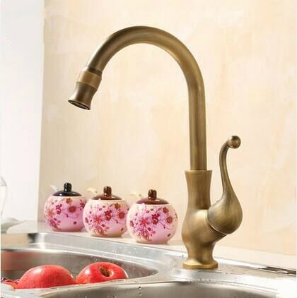 SUhang Kitchen Sink Taps The Copper Hot And Cold Kitchen Antique Kitchen Sink Faucet Lead Free Lead Healthy Swivel Sink Kitchen Single Handle Faucet