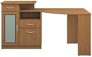 BUSH FURNITURE Bush Signature Vantage Collection Corner Desk, Light Dragonwood