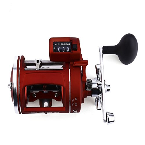 Trolling Fishing Line (Smartlife Spinning Fishing Reel 12 Bearings Freshwater Saltwater Fishing Electric Depth Counting Multiplier (Right handed))