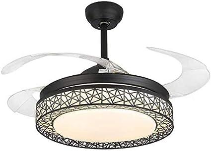 Ventilador Moderno Luz de Techo con Control Remoto Lámpara de ...
