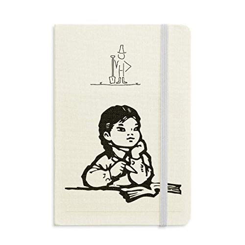 Girl Pen Table Black Sketch Patriotism Farmer Notebook Classic Journal Diary A5