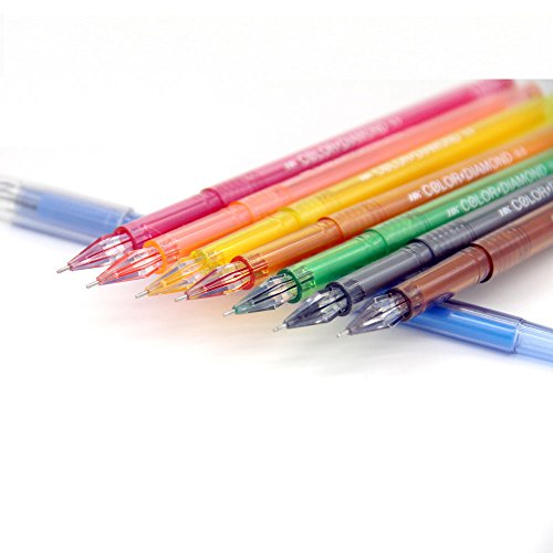 Colored-Gel-Pens-with-Diamond-Tip-for-Adult-Coloring-Books-Value-Set-of-18-Assorted-Colors-in-05-MM-Fine-Point