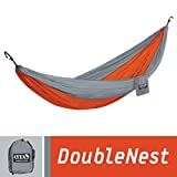 ENO Eagles Nest Outfitters - DoubleNest Hammock, Portable Hammock for Two, Orange/Grey