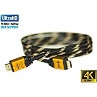 UPTab HDMI 2.0a Cable 10 FT - UHD 4K@60Hz with HDR - Braided Cord - Ultra High Speed 18Gbps - Gold Plated Connectors - Ethernet & Audio Return - Video 4K@60Hz 1080p 3D - Xbox PlayStation Apple TV 4K